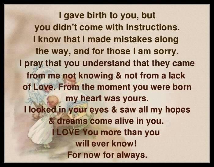 Quote Or Poem For A Daughter From Mother That Is Moving