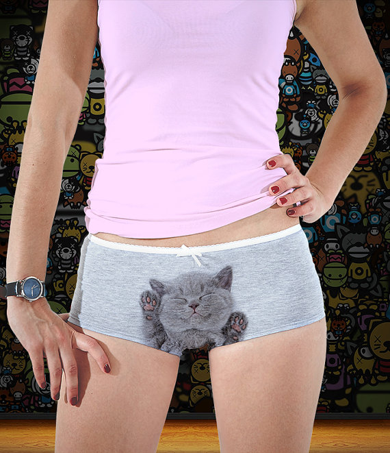 f275d6af4c05 DESCRIPTION Top quality stylish low-rise cat print panties made of soft  cotton. Perfect for everyday wear and special occasions. All designs are