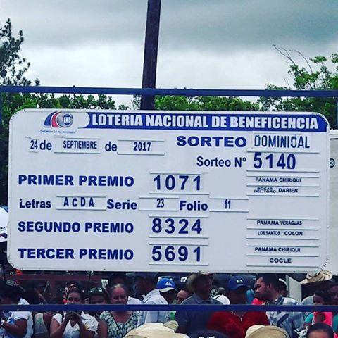 Loteriadepanama Resultados Domingo 24 De Septiembre 2017 Billetes De Lotería Lotería Nacional Lotería