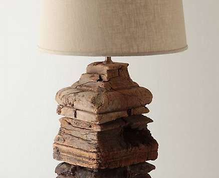 Washed Ashore Lamp By Anthropologie: Cool Lamp Made From Driftwood