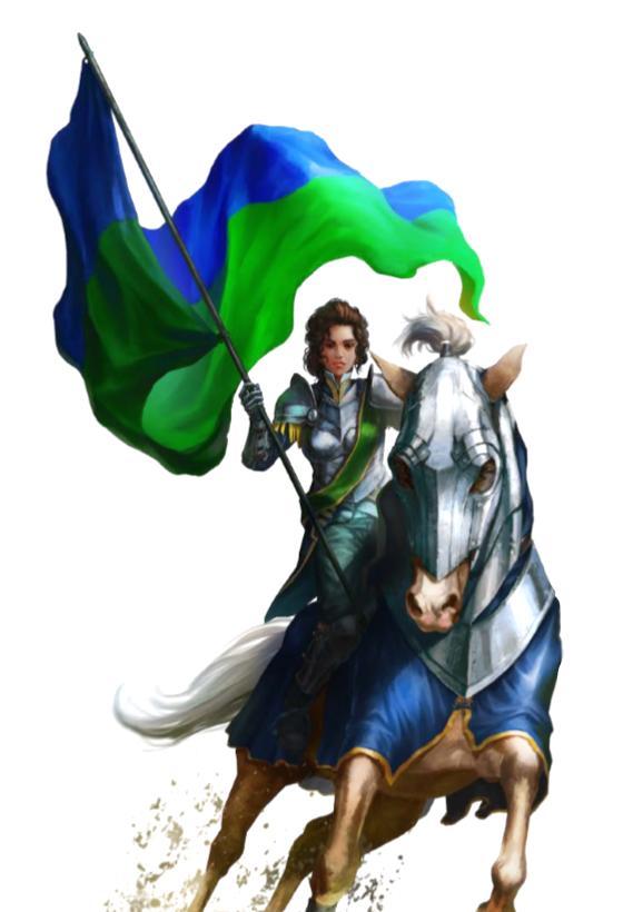Female Human Cavalier Knight - Pathfinder PFRPG DND D&D 3 5