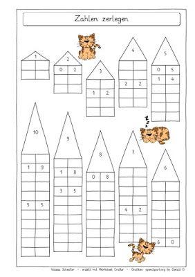 pin von lili h auf mathe grundschule mathe zahlen zerlegen und mathematikunterricht. Black Bedroom Furniture Sets. Home Design Ideas
