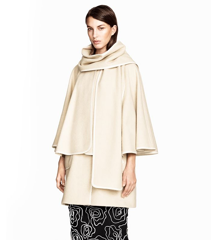 Creme Blanket Coat by H&M // #Shopping