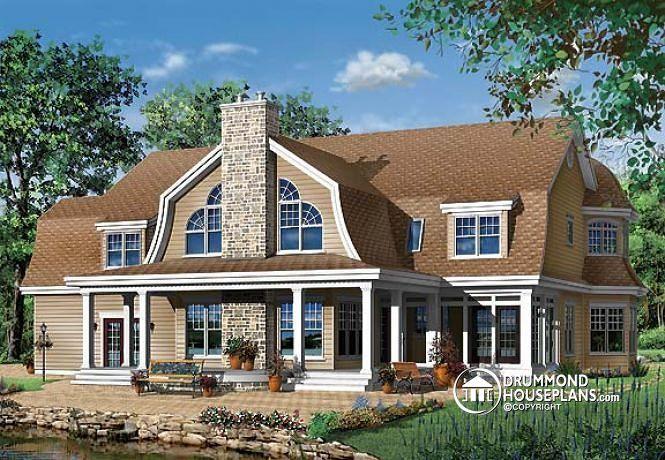 Pingl par drummond house plans sur country house plans for Garage plan de campagne