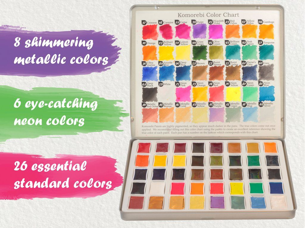 Komorebi Watercolor Paints 40 Colors In 2020 Watercolor Paint