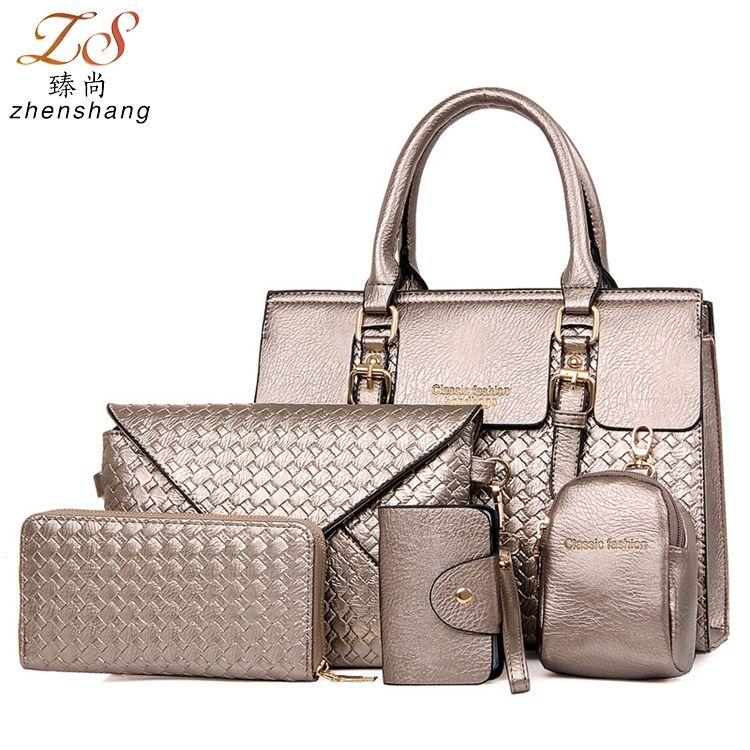 New designer China high quality elegant PU leather bags set women tote bags  3pcs women handbags 943154673aa93