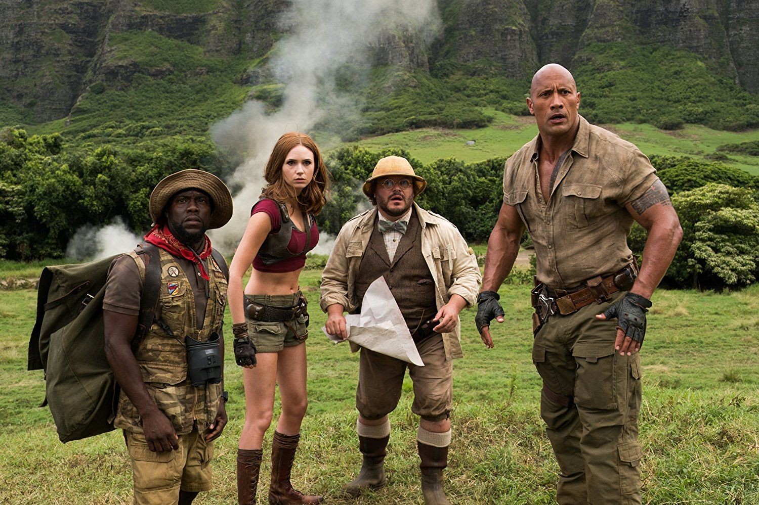 nice 'Jumanji: Welcome To The Jungle' Review: Dir. Jake Kasdan (2017)