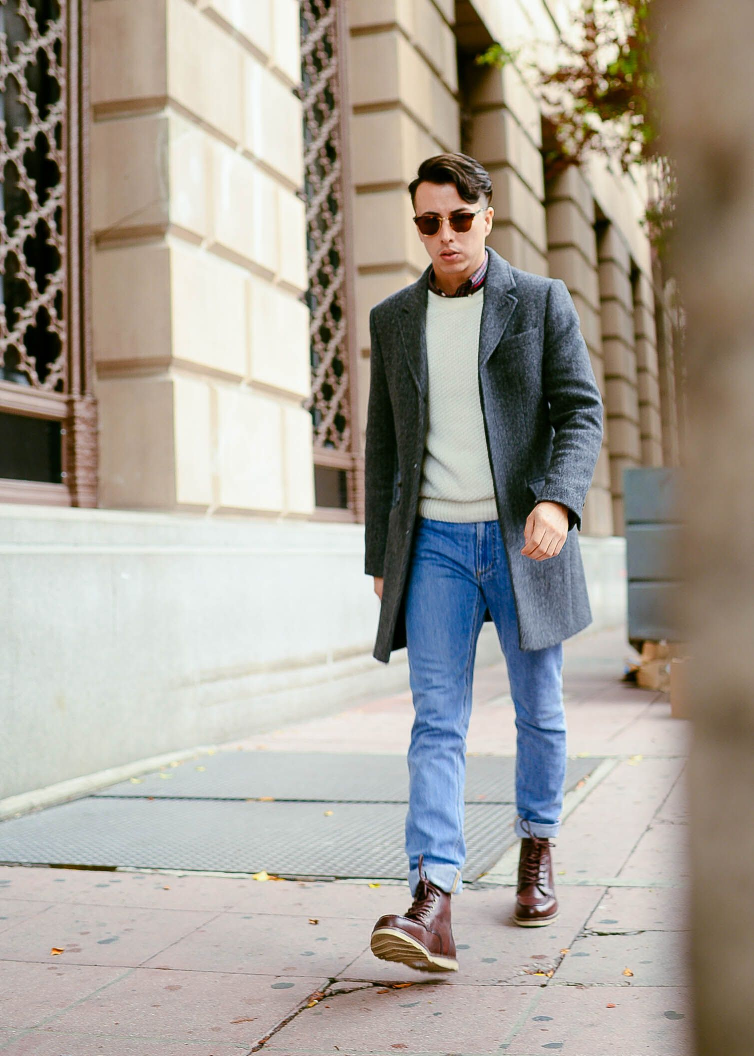 Grey Jeans Mens Outfit