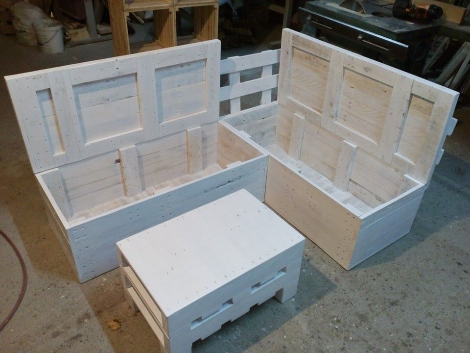 Pallet Sectional Sofa with Storage : sectional couch with storage - Sectionals, Sofas & Couches