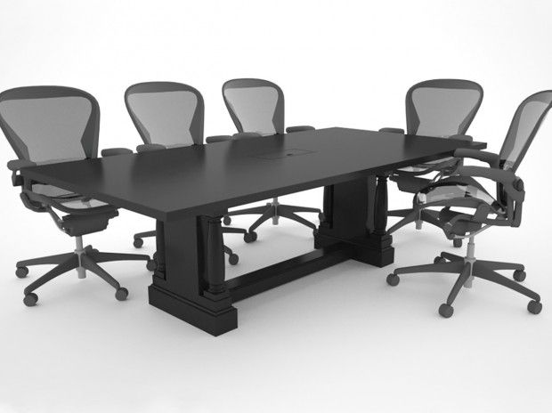 8 Black Conference Table Sold By Paul Downs Custom Tables In Pa