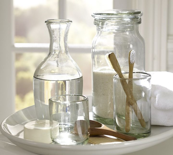 clear glass bathroom accessories. recycled glass bath accessories clear bathroom