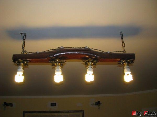 Plafoniere In Legno Fai Da Te : Risultati immagini per fai da te lampadari legno illuminazione