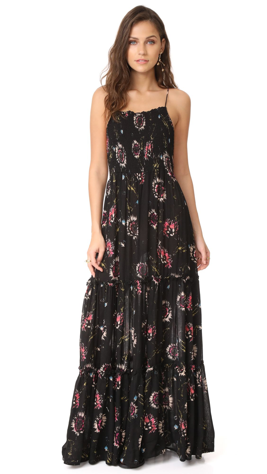 Garden Party Maxi Dress, Black Combo | Free People | Pinterest ...