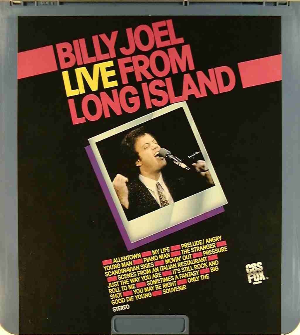 The Concert Video That Started It All For Me Billy Joel Album Covers Piano Man