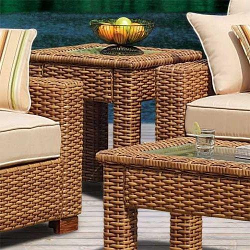 Retail 529 Our Price 255 Outdoor Patio Furniture South Sea Rattan Furniture W Sunbrella Fabric Java End Outdoor Patio Furniture Outdoor Decor Furniture