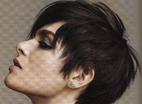 Short Boyish Hairstyle For Black Hair