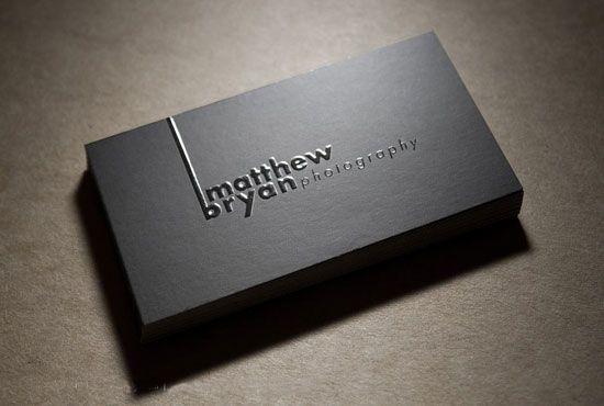 Embossed business cards designcraft pinterest business cards embossed business cards reheart Images