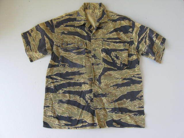 52bc46210d Vietnam war 'Advisor' tiger stripe shirt | Vintage Goods | Vietnam ...