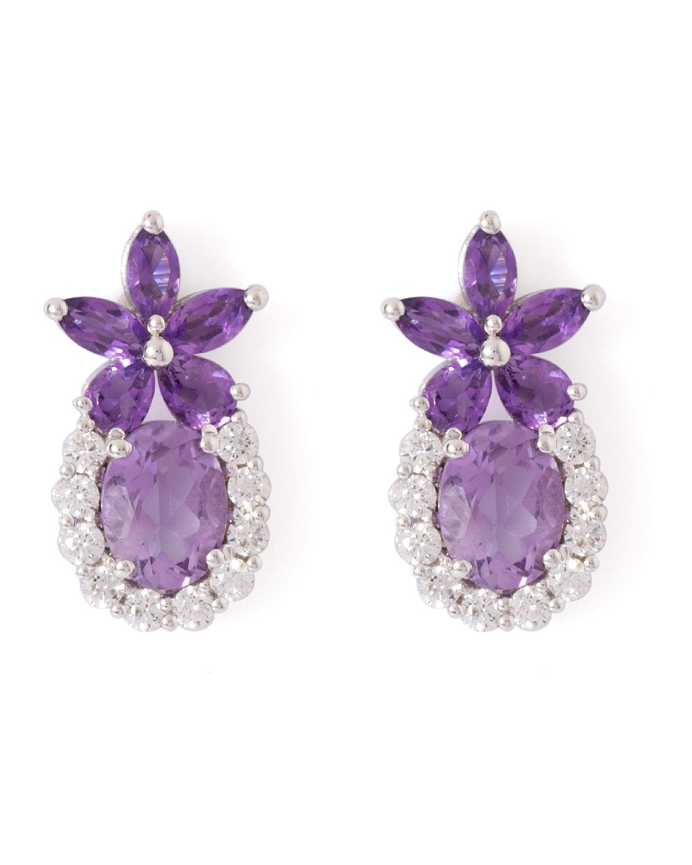 long earrings four stone pin amethyst drop butler stones wilson