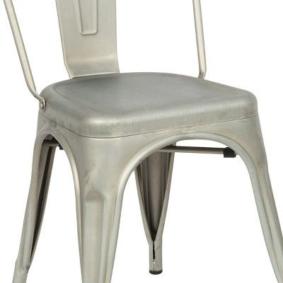 Groovy Sadie Metal Chair Set Of 2 Gray Carolina Chair And Table Machost Co Dining Chair Design Ideas Machostcouk