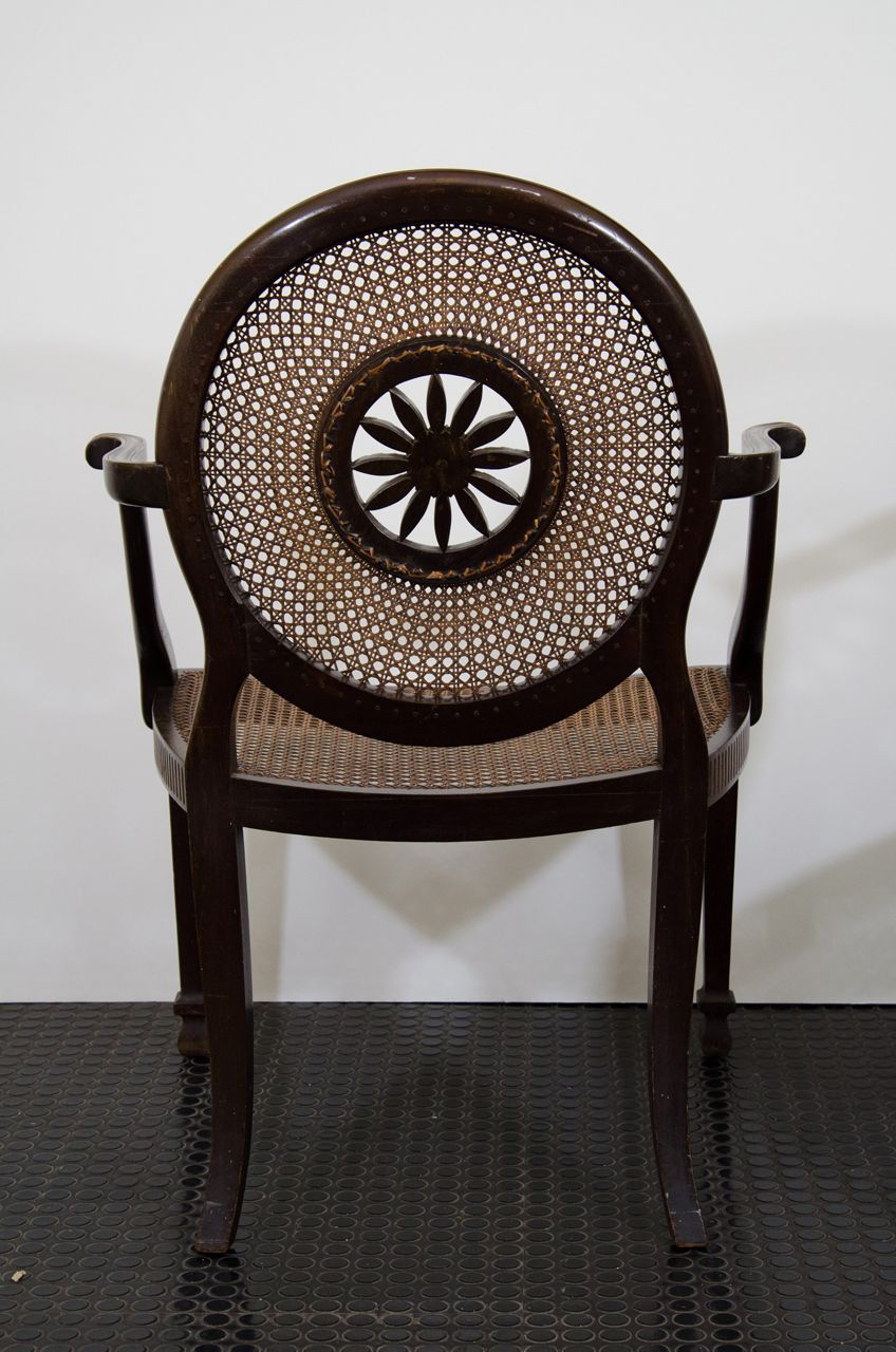 Mahogany and Canework Chairs.  Set of Four image 9