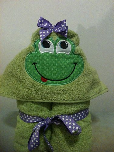 Frog Hooded Towel for Girl