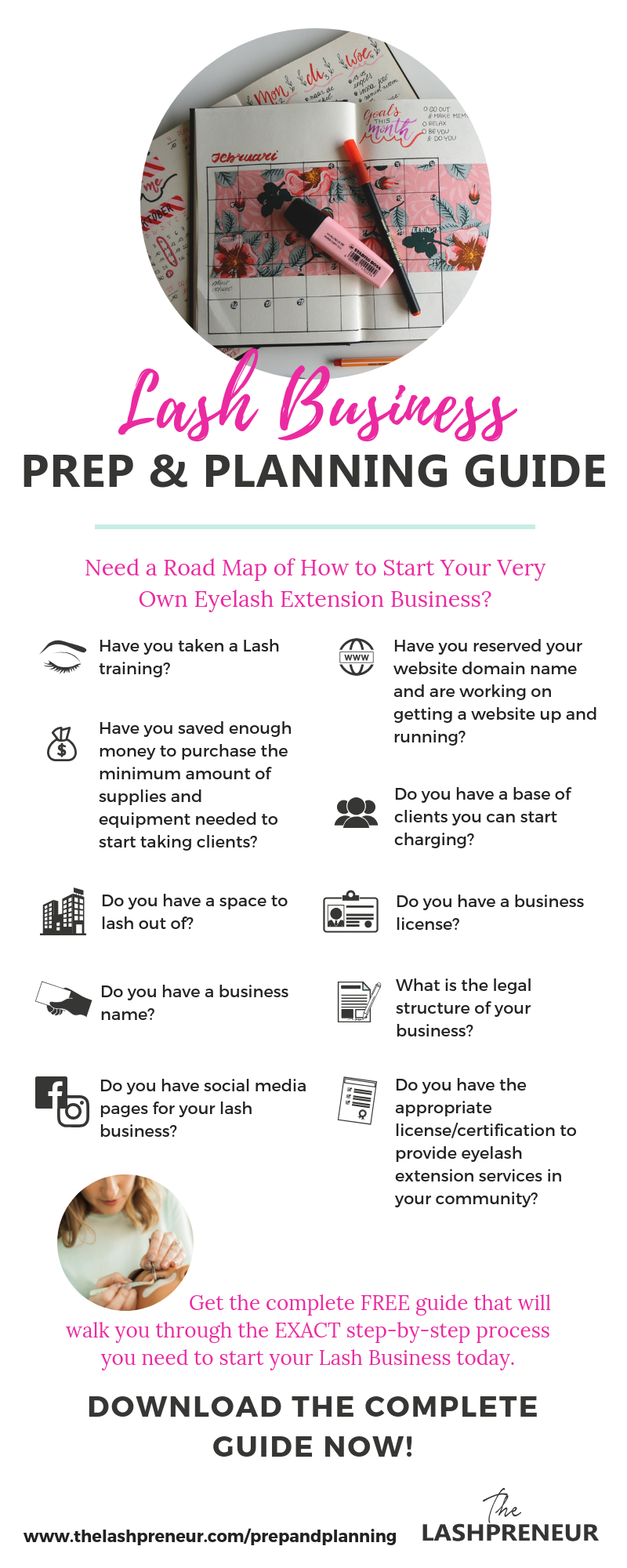 dcea81df110 Need a road map of how to start your very own eyelash extension business ?Download