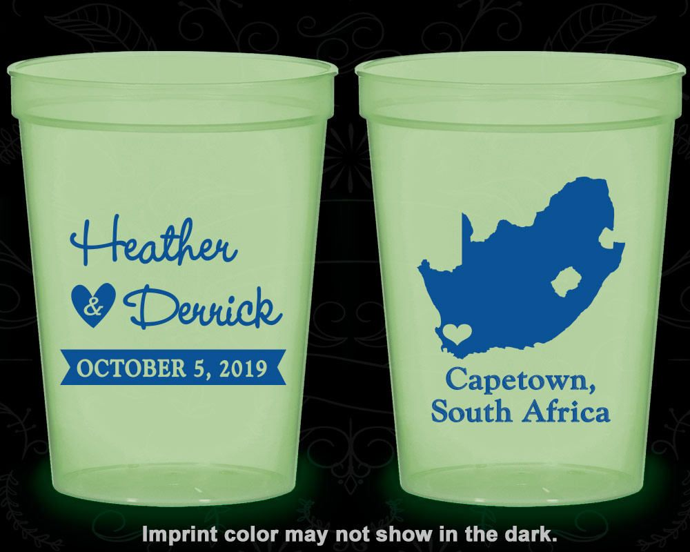 South Africa Wedding Cheap Glow Party Cups Destination