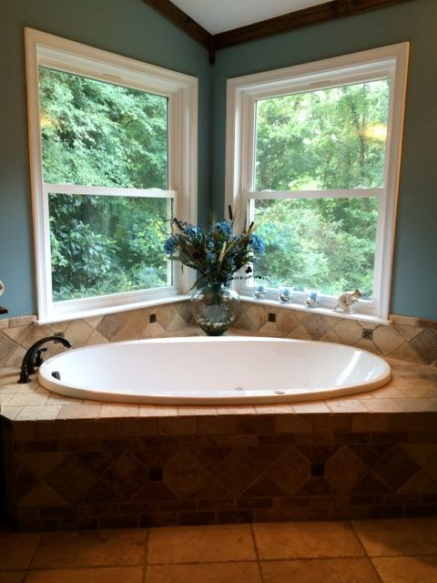 Beautiful Bathtub Recently Completed By Cornerstone Home