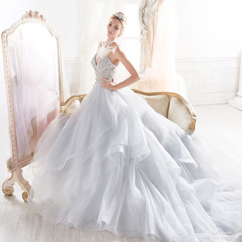 This dreamy ball gown from Romance by Nicole Spose features a time ...