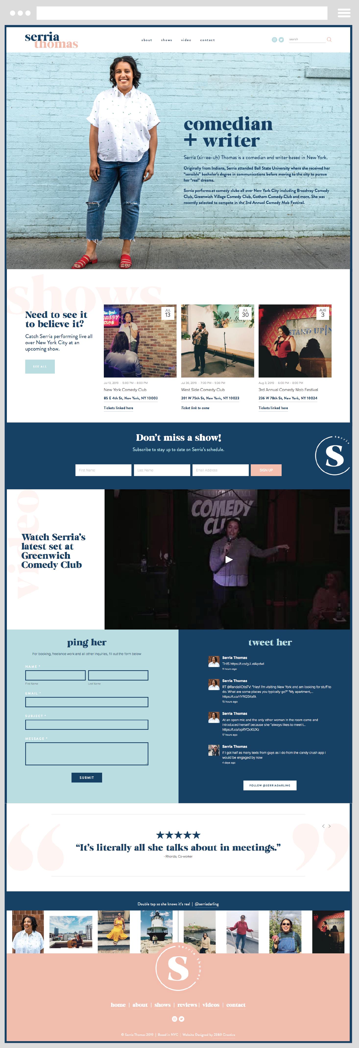Comedian And Writer Custom Website Design In 2020 Custom Website Design Squarespace Website Custom Website