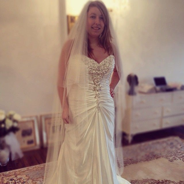 Have a lovely plus size wedding gown like this made for for Custom made wedding dresses dallas