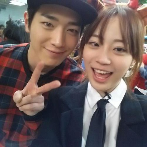 Seo Kang-Joon and KARA Youngji at SBS Roommate's Christmas Party