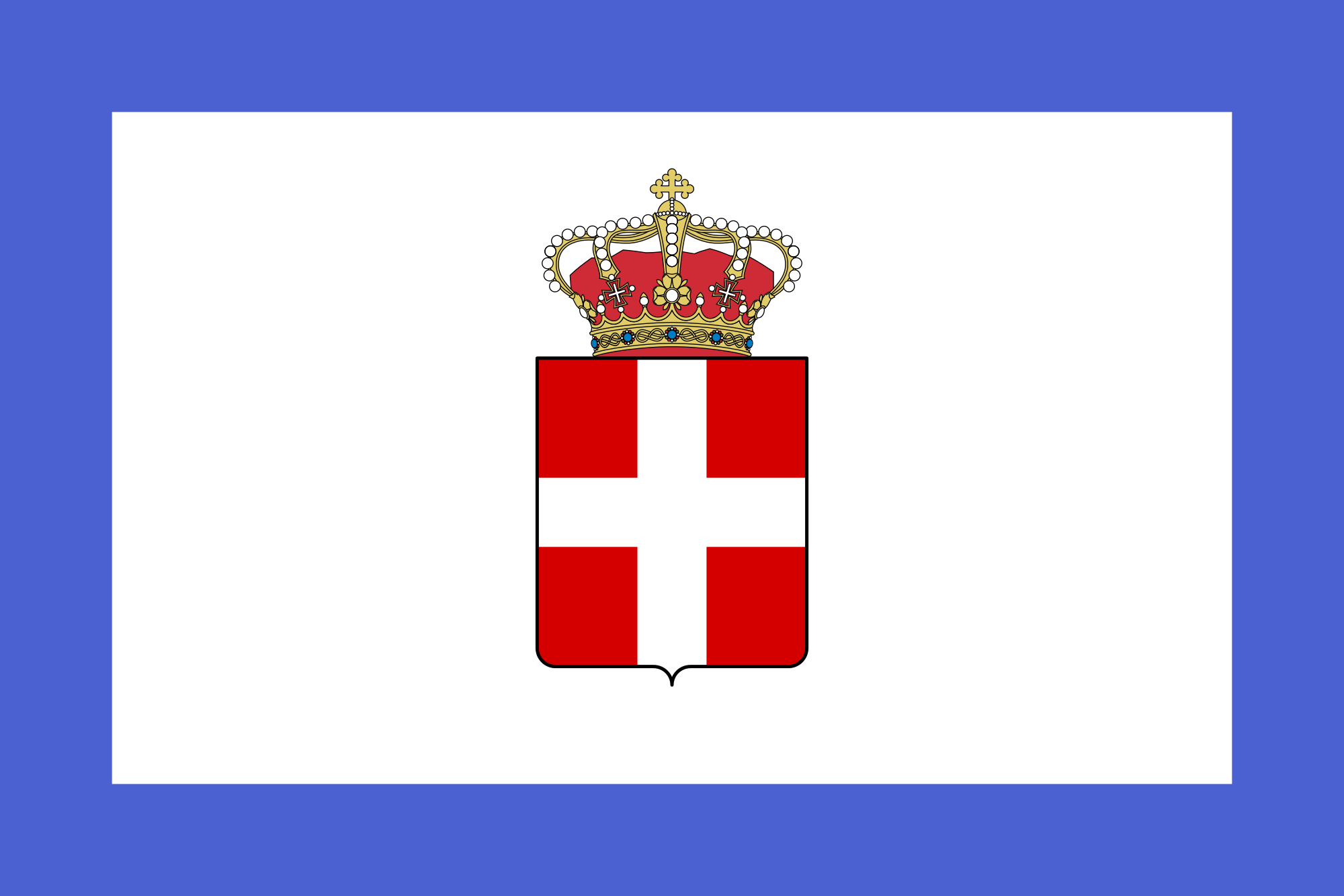 Royal Standard Of The Kingdom Of Sardinia 1834 1848 Historical Flags Italy Flag Flags Of The World