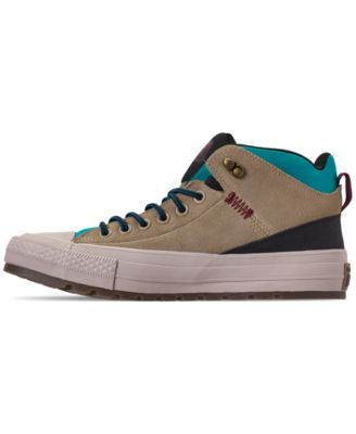 c7ac3690440c Converse Men s Chuck Taylor All Star Street Boot Casual Sneakers from Finish  Line - Tan Beige 11