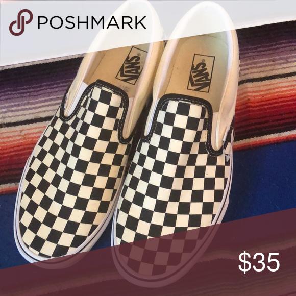 Brand new slip on checkered vans size