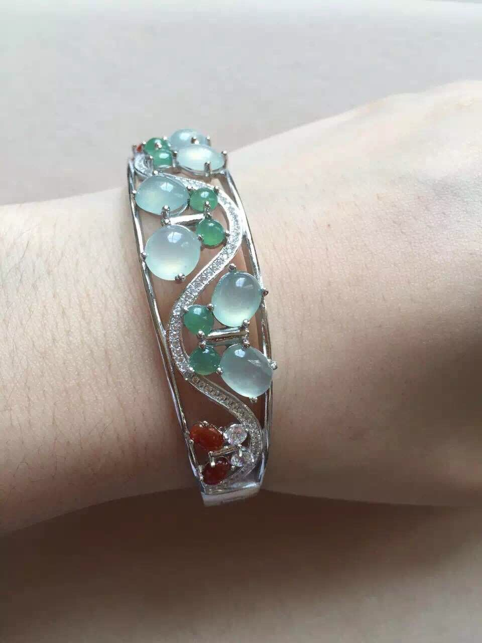 womens item new ladies from stone for com wear in icy bracelet on jewelry aliexpress of gift accessories natural fashion bracelets species bangles jade kyszdl green production