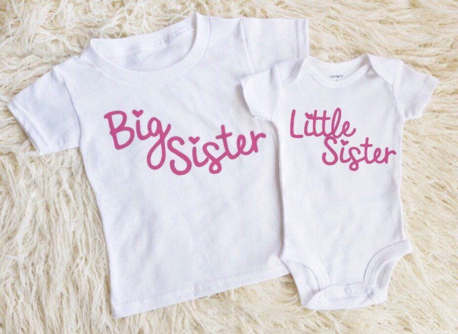 7176e835c little sister onesie little sister shirt big sister onesie big sister shirt  shirts for girls new baby girl onesie pregnancy announcement by  EatSleepDrool on ...