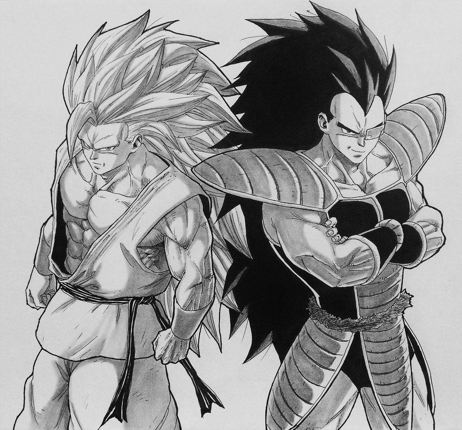 Goku I Raditz Saiyan Brothers By Darkogoku Dragon Ball Artwork Dragon Ball Dragon Ball Super