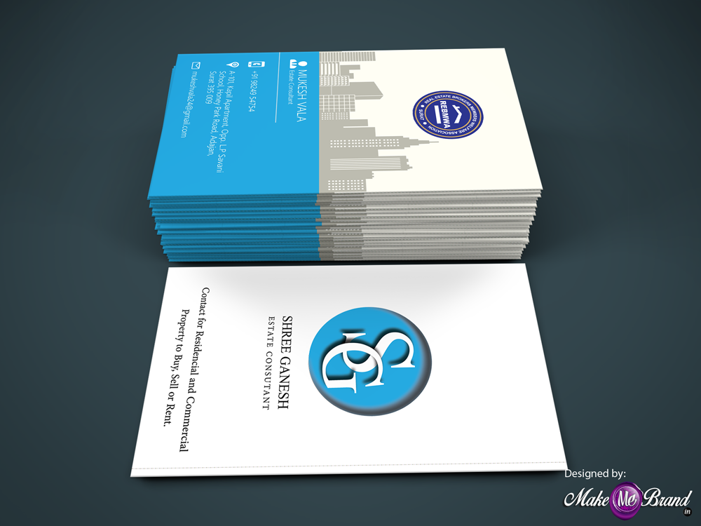 Business Card Design for Shree Ganesh Real Estate #businesscard ...