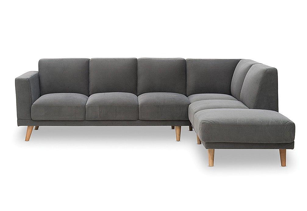 Tobin Fabric 3 Seater Sofa With Chaise Sofa Seater Sofa 3