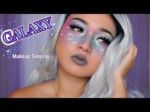 Liquid Eyeliner Is Key Galaxy Makeup Freckles Makeup Alien Makeup