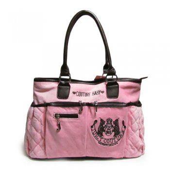 Juicy Couture Diaper Laurel Crest Pink Handbags [CZ00952423] - $59.00 : Juicy couture outlet
