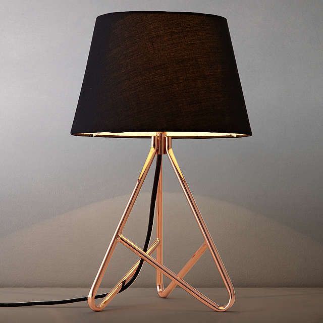 BuyJohn Lewis Albus Twisted Table Lamp Black Copper Online At Johnlewis