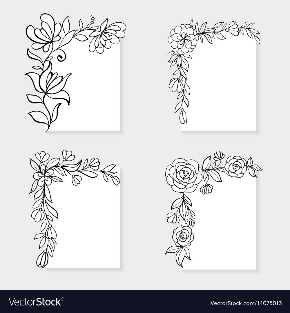 Pin By Sarah K Moreno On Design In 2020 Floral Border Design Flower Pattern Drawing Colorful Borders Design