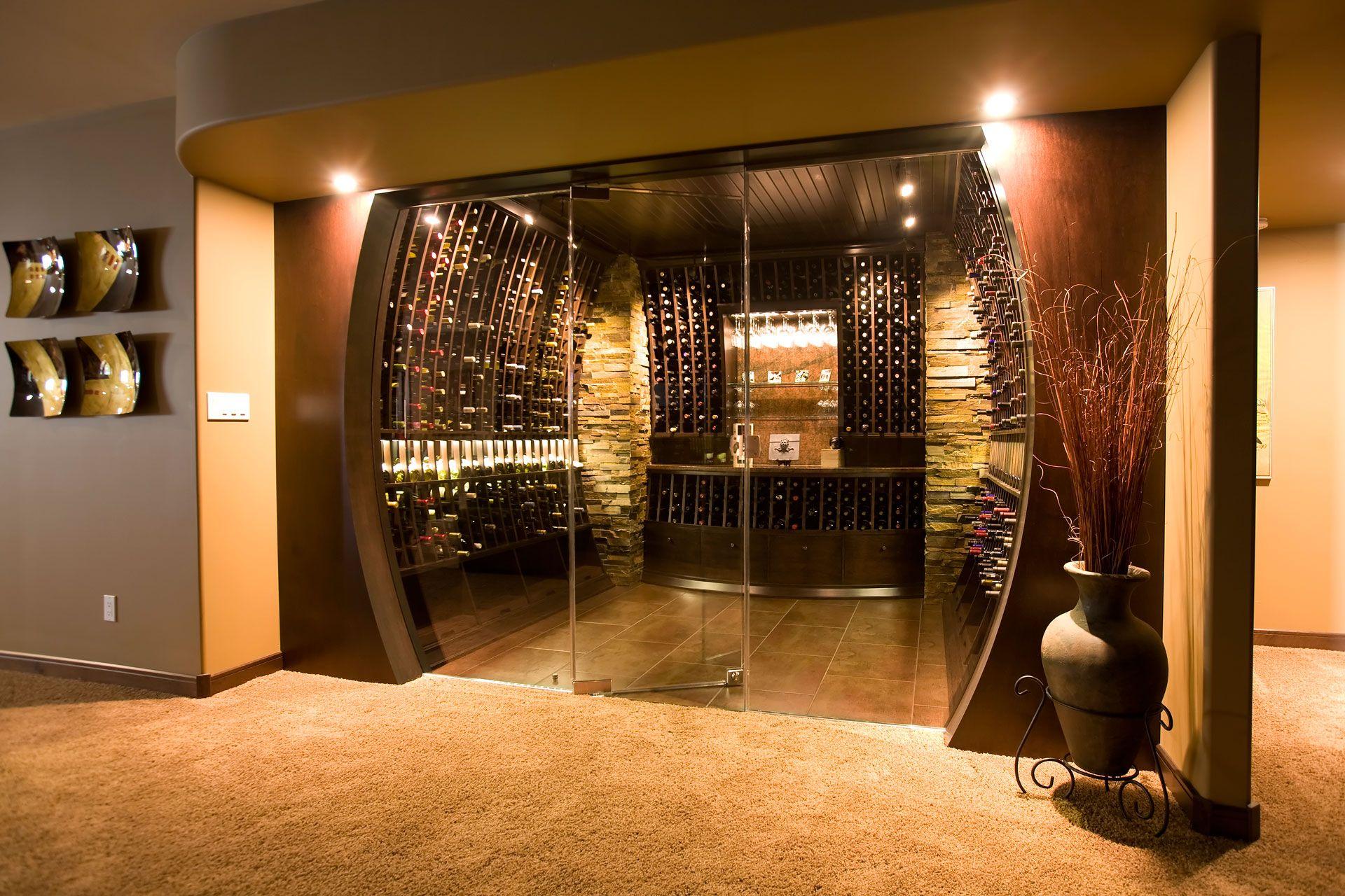 Adegas Em Casa Adegas Pinterest Wine Cellars Cellar