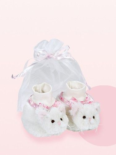 8c4cc0cdf505 Bearington Baby Pretty Kitty Purrfect Kitty Booties Ages 6-12 months ...