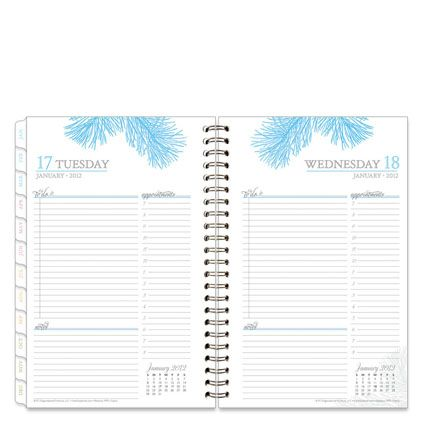 Botanica Wire-bound One-Page-Per-Day Planner | Organizing ...