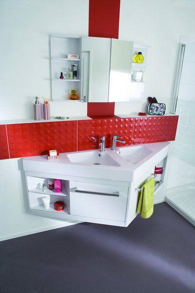 Une Solution Gain De Place Pour Les Petites Salles De Bains. Powell.  Castorama. Furniture For Small SpacesBathroom FurnitureTiny ...