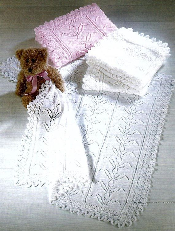 Pdf Instant Digital Download Baby Shawls Knitting Pattern 412